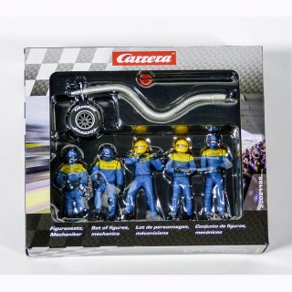 Carrera 21132 Figurensatz Mechaniker blau NEU/OVP!