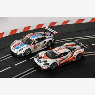 Carrera Digital132 FORD GT RACE CAR + PORSCHE 911 RSR NEU