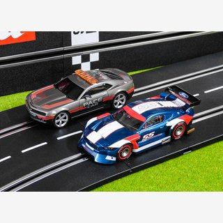 Carrera Evolution Chevrolet Camaro Pace Car + Ford Mustang GTY 27632+27637 NEU